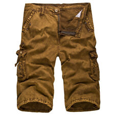 Men's Army Military Combat Cargo Shorts Camo Work Pants Casual Trousers Bottoms