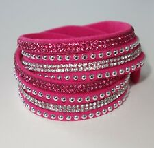 Lederarmband damen zum wickeln mit strass  Wickel Modeschmuck-Armbänder | eBay