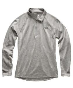 The North Face Men's Large Warm L/S Zip Neck, Zinc Grey Heather