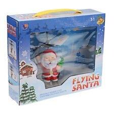 Flying Santa Remote Control RC Helicopter Toy Kids Christmas Xmas Gift LED Party