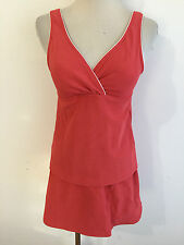 Lands' End Tankini w/Skirted Bottom Muted Coral/Orange Size 4 Top / 6 Bottom