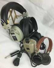 3 Lot Vintage Headphones Realistic Nova 16 Archer Dynamic 8-Ohm & USVA Type AL-5
