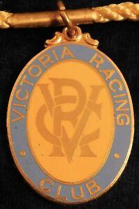 1968 ~ 69 VICTORIA RACING CLUB MEMBERS FOB / BADGE - STOKES - PERFECT