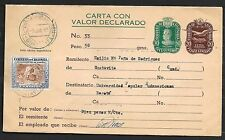 Colombia covers 1959 uprated Carta Con Valor Declarado Guatavita - Bogota