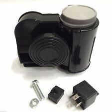 BLACK COMPACT DUAL TONE AIR HORN 139dB 12V CAR TRUCK 4x4 RV ATV AUTO MOTORCYCLE