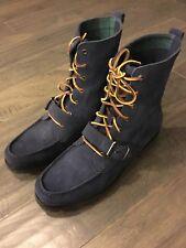 Polo Ralph Lauren Ranger Boots Navy Blue Sport Suede New Size 12 Men's