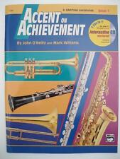 New Alfred Accent on Achievement Book 1 for Baritone Saxophone w/ Cd