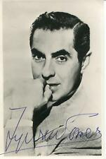 TYRONE POWER AUTOGRAPH SWASHBUCKLER ACTOR SIGNED PHOTO JSA AUTHENTICATED LETTER