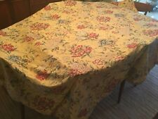 Pottery Barn Duvet Yelow Flower Floral Fabric Textile 80x99�