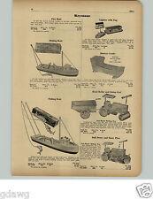 1951 PAPER AD Keystone Toy Road Roller Dump Cart Bulldozer Snow Plow