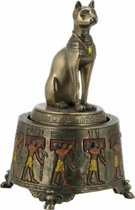 Ancient Egyptian Bastet Cat Cold Cast Bronze Music Box 13x7.60cm /5.11x3 inches