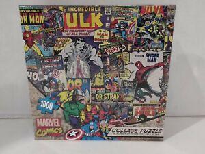 Marvel Comics Collage Jigsaw Puzzle New 1000 Spider-Man Hulk Avengers Iron Man