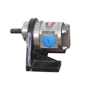 "Stainless steel SS 316 ROTARY GEAR PUMP 110 LPM HEVY DUTY 1.5"" DIA INLET OUTLET"