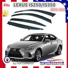 Fits Lexus IS250 IS350 IS200T 2014-2019  Window Visor Vent Deflector Rain Guard