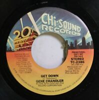 Soul Promo 45 Gene Chandler - Get Down / Get Down On 20Th Century Fox Records