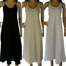 FULL SLIP 100% Cotton NEW Long LAYERING Dress Petticoat Size 12 14 16 18 20