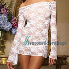 SexyWomens Lace UnderwearLingerieBabydoll Flower DressNightwearSleepwear
