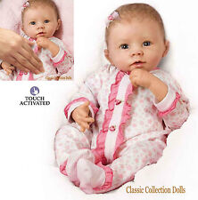 """Ashton Drake """"Katie"""" Interactive réaliste Baby Doll-Respire-Coos-NOUVEAU racine cheveux"""