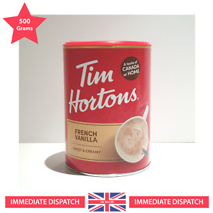 🍁 Tim Hortons French Vanilla Cappuccino 🌟 Exclusive LARGE - 500g 🌟
