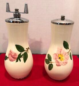 Vintage Bulbous Salt & Pepper Mill Desert Rose Franciscan Earthenware
