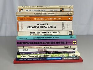 Lot Of 14 Classic Chess Books, Pre-Owned, Various Titles