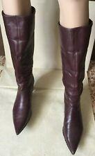 Boots VIC MATIE Woman, border color, size 40 leather Stivali Donna, colore bordo