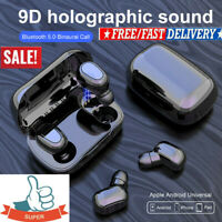 Bluetooth~5.0 Headset TWS Wireless Earphones Mini Earbuds Stereo Headphones HOT