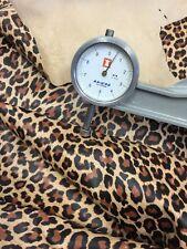 Genuine Lambskin Leather Leopard Print Suede Hide 2 Oz  Camel Color 4Sf