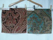 New listing Lot of 2 - Brunschwig & Fils fabric sample, Gulchihra Printed Velvet