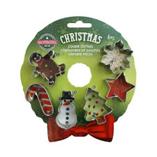 R&M INTERNATIONAL Christmas Xmas Mini Wreath Cookie Cutters Set of 6!