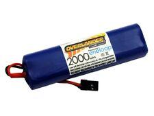 Overlander Eneloop 2000 4.8v AA NiMH Rx Receiver Battery Pack Flat (end to end)
