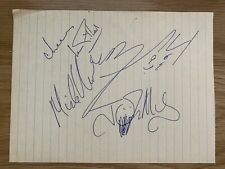 More details for ian gillan signed page john mccoy mike underwood janick gers iron maiden
