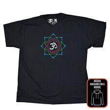 Om Aum Símbolo para hombre señoras de mujer T Shirt Mandala Flor De Loto Yoga Meditación