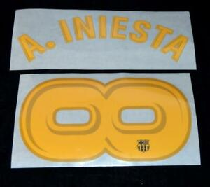 Official Barcelona A.iniesta 8 Football Name/Number Set Infinity tribute number