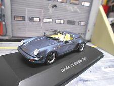 PORSCHE 911 Carrera Speedster Cabrio 1989 blau blue met G-Modell Atlas IXO 1:43