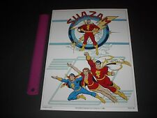 DC COMICS SHAZAM FAMILY POSTER PIN UP CAPTAIN MARVEL,MARY MARVEL,CAPT MARVEL JR.