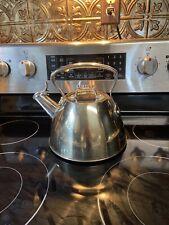 All Clad Stainless Steel Tea Pot Kettle 2 Quart 1.9L
