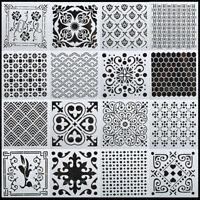 16PCS Mandala Dotting Stencils Template For Wood Airbrush Walls Malerei Schimmel