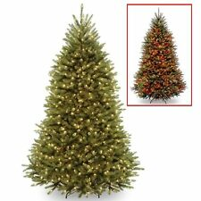 New National Tree Co. 7.5' Pre-Lit Dunhill Fir Dual Lights Hinged Christmas Tree