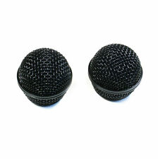 2 Black Ball Head Microphone Grille Replacement for Shure SM58 Beta58 Beta58A