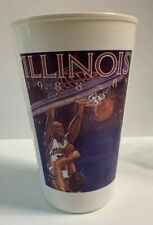 Illinois Fighting Illini Chief Illiniwek 1988 1989 Flying Basketball Plastic Cup