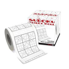 Sudoku Toilet Paper Roll Tissue Novelty Number Puzzle Game Gift
