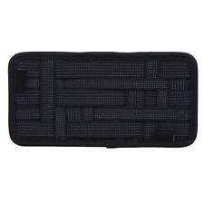 Car Sun Visor Elastic Storage Plate Organizer 13.39 Inches X 5.52 Inches Black