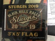 2019 79th Anniversary Official Sturgis Motorcycle Rally Flag/Banner 3' X 5'🏳️