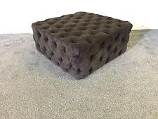 LARGE CHESTERFIELD BUTTON COFFEE TABLE BOX STOOL OTTOMAN AVALIABLE IN 96 FABRICS