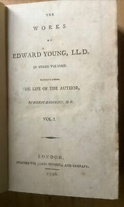 1796 -  The works of Edward Young... [with] the life of the Author, by Robert An