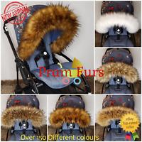 NEW! Pram Fur Hood Trim Soft Furs Suitable to ALL Baby Prams Stroller Buggy