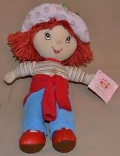 "13.5"" Strawberry Shortcake Plush Dolls Toys Stuffed Animals With Tags 2005 Girls"