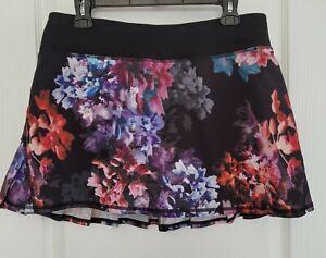 EUC Lululemon Run:Pace Setter Skirt Spring Has Sprung Multi/Black Size 8 Tall