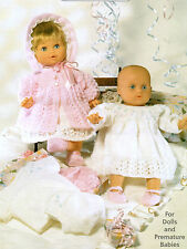 "BABY DOLLS CLOTHES 12-22"" KNITTING PATTERN 4 ply LAYETTE"